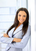 Portrait of a beautiful business woman — Stock Photo