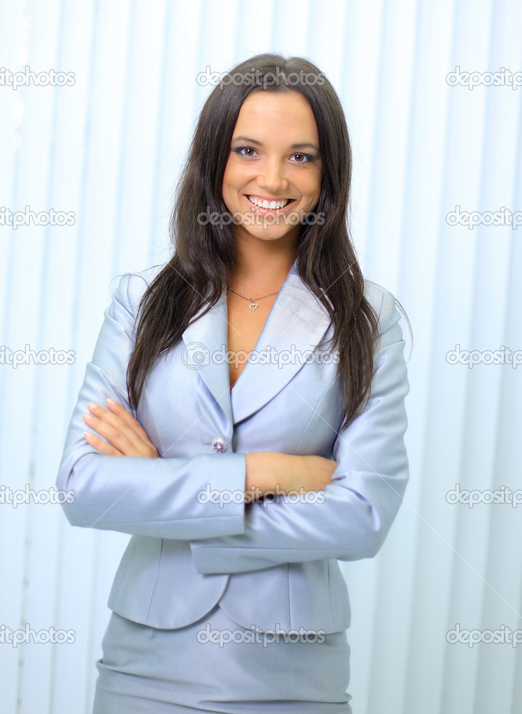 Business woman. Isolated over white background  — Stock Photo #5140470