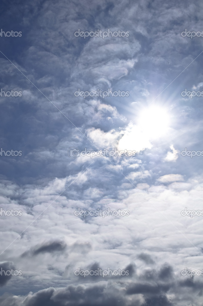 The sun breaking through white clouds — Stock Photo #2758964