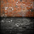 Stock Photo: Grungy Brick Room