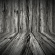 Dark Wooden Room — Stock Photo