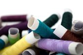 Multicolored Spools of Thread — Stock Photo