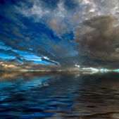 Dramatic Sky over the Sea — Foto de Stock
