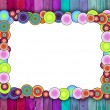 Multicolored Frame on Pink and Blue Back — Stock Photo