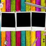 prázdné fotografie na dívčí pozadí — Stock fotografie