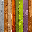 Multicolored Wood Background — Stock Photo #2911298