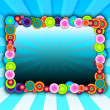 Bubbly Frame on Blue Background — 图库照片 #2923384