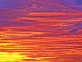 удивительный закат — Стоковое фото