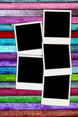 Blank Photos on Colorful Background — Stock Photo