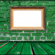 Blank Frame in Green Room — Stockfoto