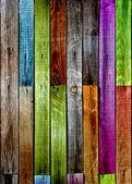 Multicolored Wood Background — Stock Photo