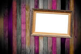 Titled Frame on Wooden Wall — Stock Photo
