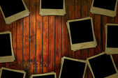 Grungy Photos on Wood Background — Stock Photo