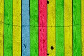 多彩多姿的木墙 — 图库照片