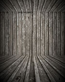 Empty Wooden Room — Stockfoto