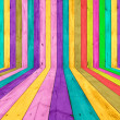 Multicolored Wooden Room - Stockfoto