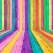 Multicolored Wooden Room - Stock Photo