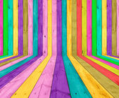 Multicolored Wooden Room — Stock Photo