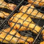 Chicken Legs on Grill — Stock Photo