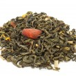 Foto de Stock  : Green Tea with Citrus Peels and Flower Petals