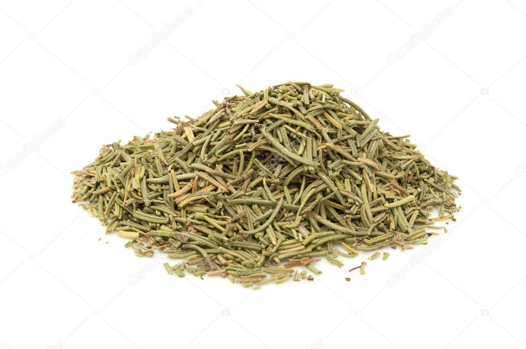 A pile of dried rosemary isolated on a white background  Stock Photo #3435053