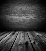 Karanlık boş oda — Stok fotoğraf