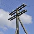 Electric Pole And Power Lines — Stock Photo