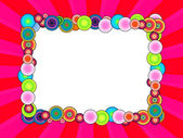 Multicolored Frame on Bright Pink Background — Stock Photo