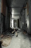 Hallway in Abandoned Building — Stock Photo