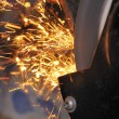 Sparks from Grinder - Stock Photo