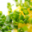 Chopped Spring Onion and Sweet Pepper — Stock Photo
