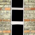 foto di vuote sul muro di mattoni — Foto Stock