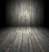 Habitación de madera oscura — Foto de Stock