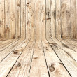 Stock Photo: Empty Wooden Room