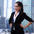 Business of the lady against skyscrapers — Stock Photo #2981280