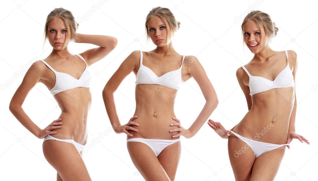 Young beautiful woman in underwear   Stock Photo #3126478