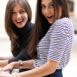 Two cheerful girls — Stock Photo