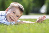 Happy litte boy — Stock Photo