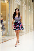 Lady in color dress — Stock Photo