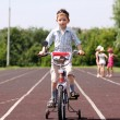 Boy goes for a drive on a bicycle — Stock Photo #3390290