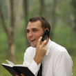 Calling by phone — Stock Photo #3600011