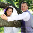 Foto de Stock  : Bride and groom