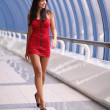Lady in red dress — Stock Photo #3645717