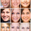 Collage beautiful young women — Stock Photo
