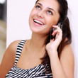 Woman talking on the telephone — Stock Photo
