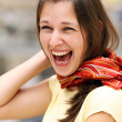 Stock Photo: Young happy smiling woman