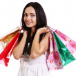 Stock Photo: Shopping woman smiling