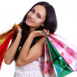 Royalty-Free Stock Photo: Shopping woman smiling