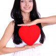 My heart - a gift at date of sacred Valentine — Stock Photo