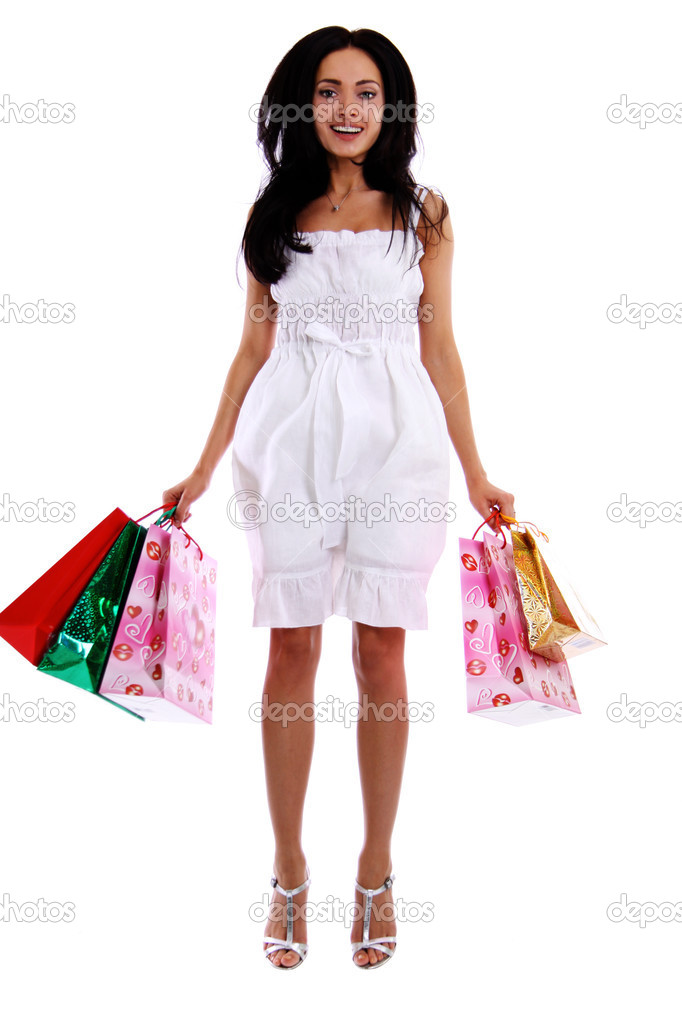 Full length portrait of a beautiful woman — Stock Photo #3733071